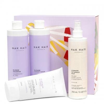 Набор NAK «Блонд»: шампунь, кондиционер, маска и спрей