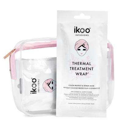 Набор ikoo «Защита цвета и восстановление»: 5 масок-обертываний и косметичка