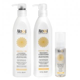 Комплект Aloxxi «Питание 7 масел»: шампунь, кондиционер и сыворотка