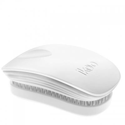 Расческа-детанглер ikoo classic white «Классический белый» — компактная для сумочки