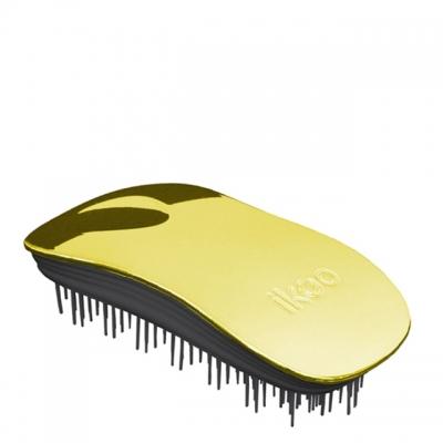 Расческа-детанглер ikoo metallic black «Золотистый металлик» — для дома