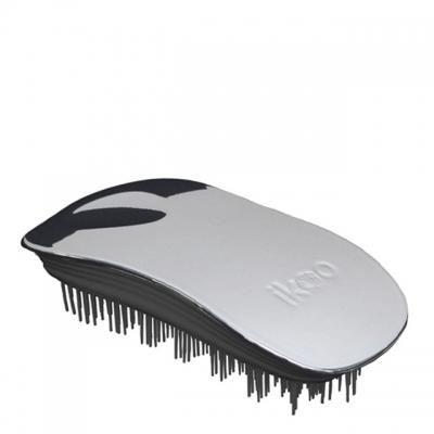 Расческа-детанглер ikoo metallic black «Серый металлик» — для дома