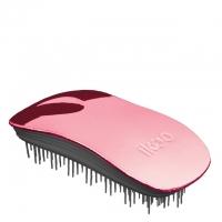 Расческа-детанглер ikoo home metallic black «Розовый металлик»