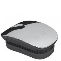 Компактная расческа-детанглер ikoo pocket metallic black «Серый металлик»