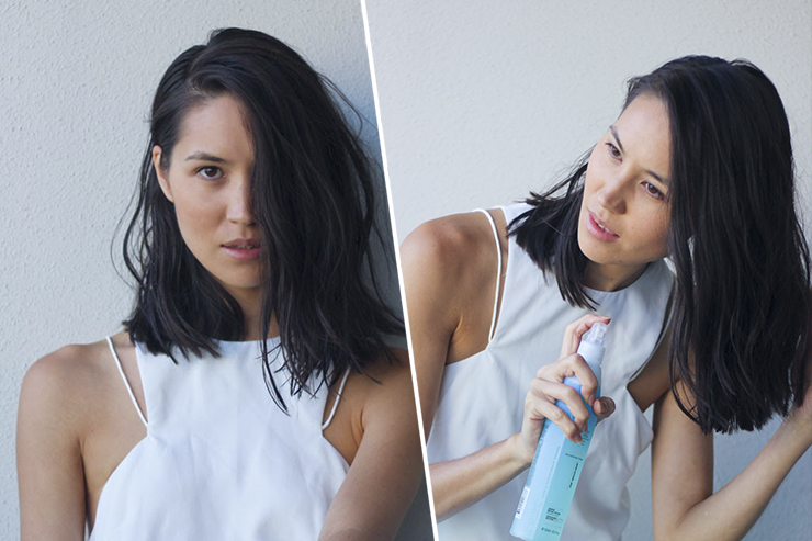 Спреем с морской солью легко уложить волосы