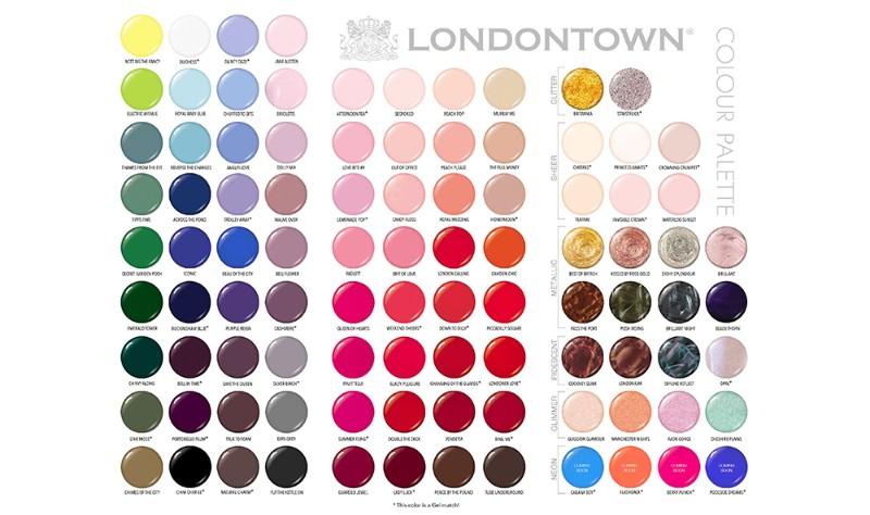Палитра лаков Londontown
