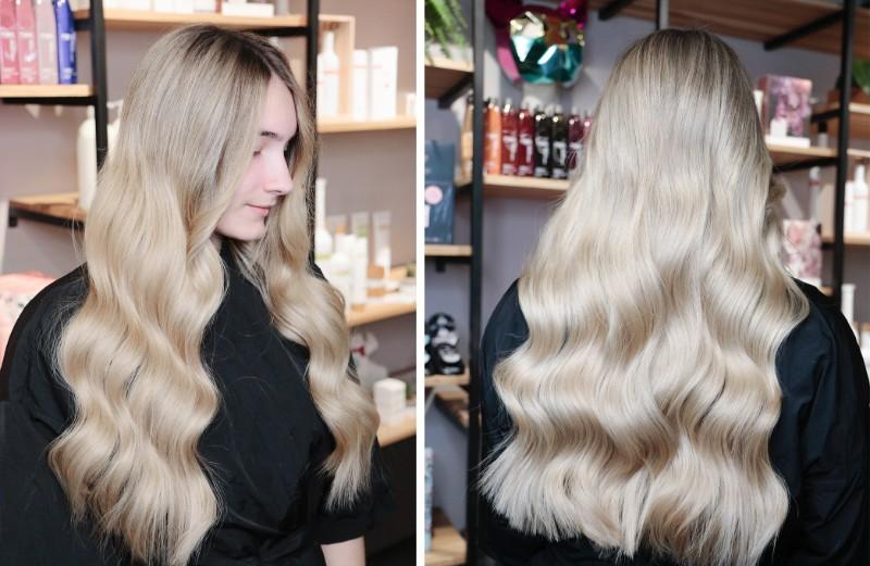 Окрашивание блонд в салоне Cosmico