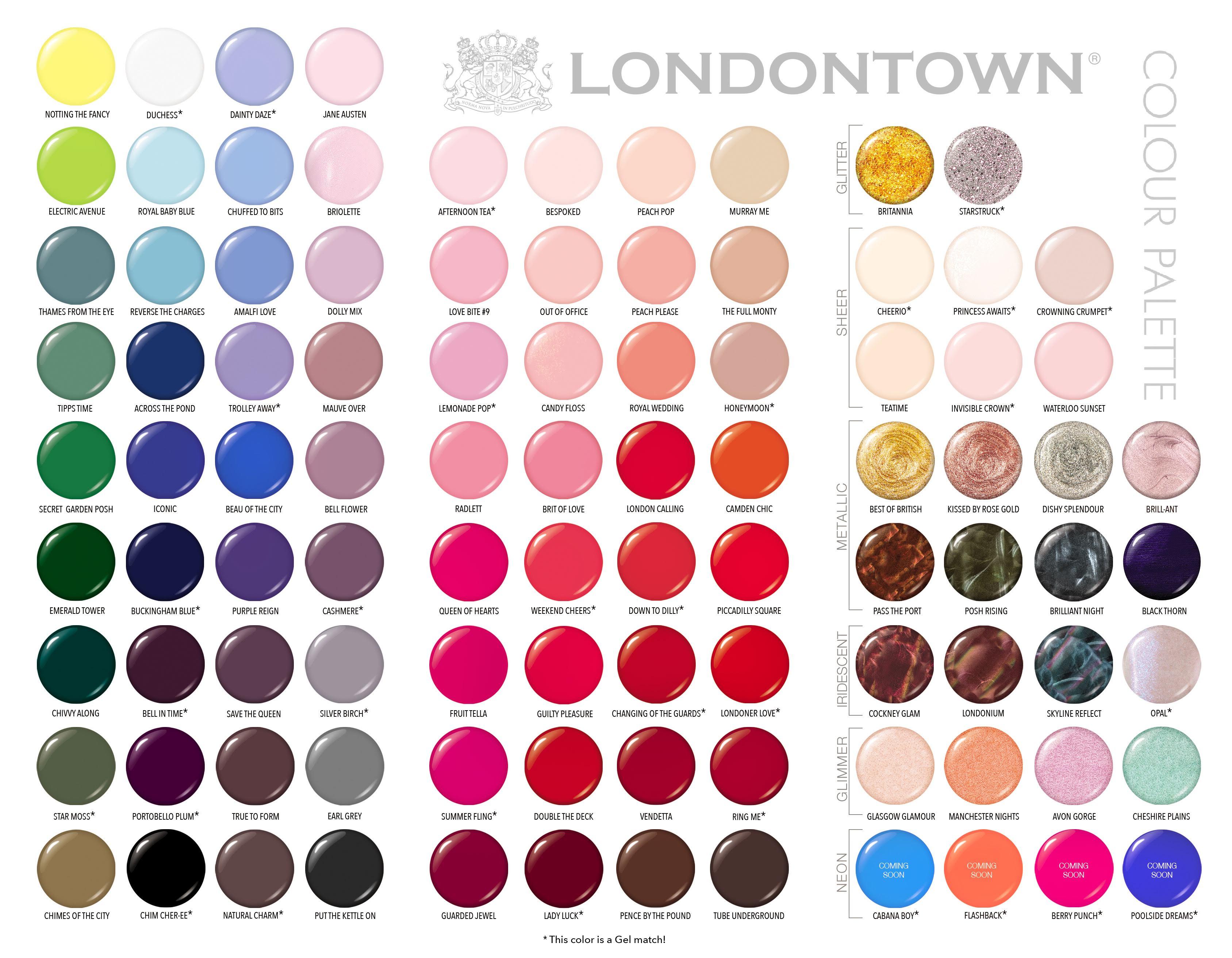 Цветовая палитра Londontown