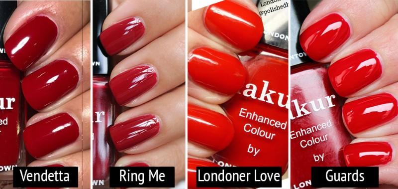 Маникюр с красным цветом лака Londontown