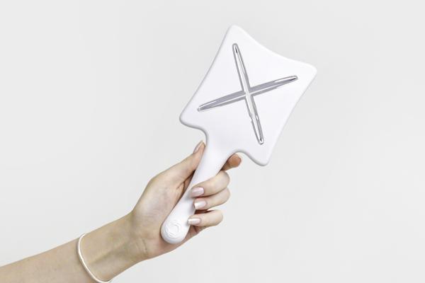 Расческа для сушки феном ikoo paddle X «Белая платина»