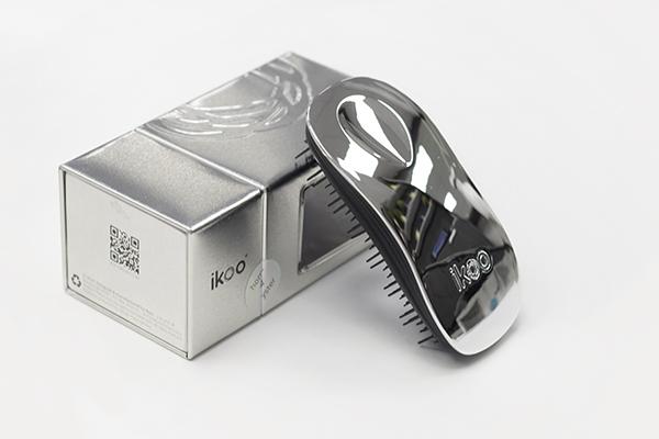 Расческа ikoo home metallic black «Серый металлик»