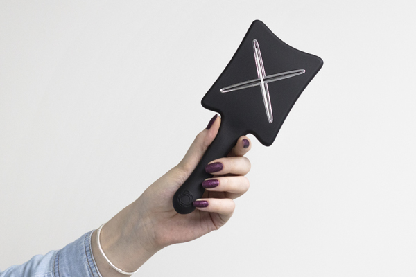 Компактная расческа для сушки феном ikoo paddle X pops «Черная белуга»