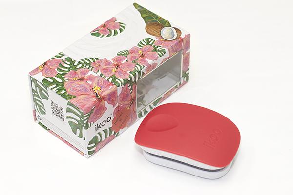 Компактная расческа ikoo pocket paradise white «Огненный шар»