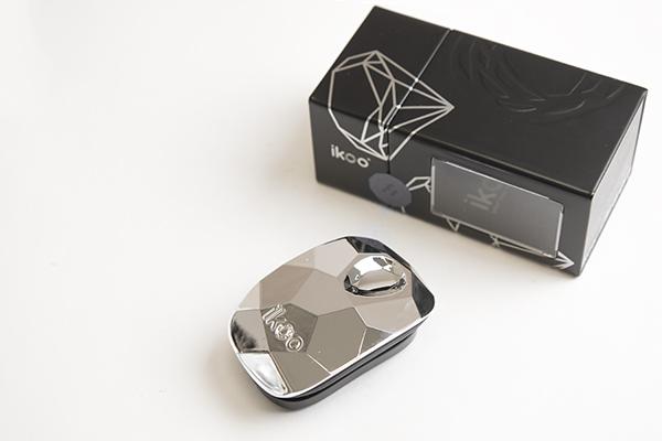 Компактная расческа-детанглер ikoo pocket glamour prima ballerina silver «Серебрянная»